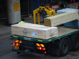 Lorry delivering FSC timber products